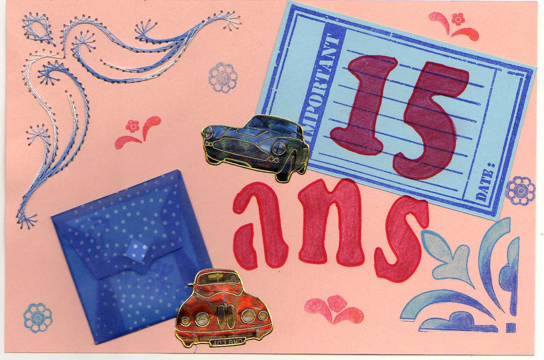 Carte Anniversaire Pour Fille 15 Ans Tasyafiolarara Site