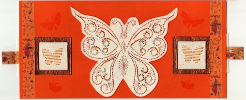 broderie sur papier papillon