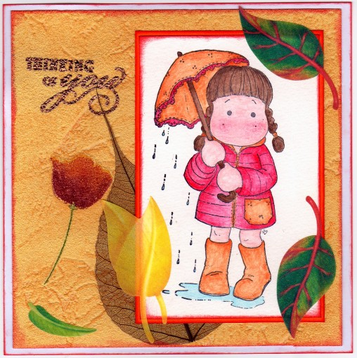 carte automnale - couleurs automnales - tampon magniolia